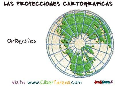 Proyeccion  Polar Ortografica - Proyecciones Cartograficas