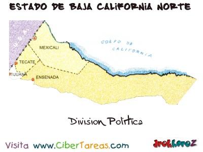 Division Politica - Estado de Baja California Norte