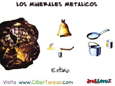 Estaño - Los Minerales Metalicos