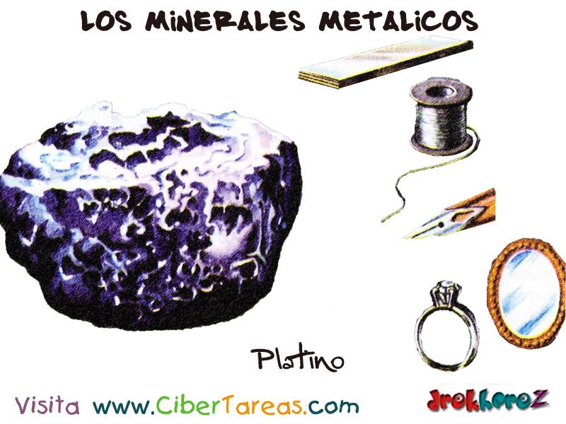 platino  u2013 los minerales met u00e1licos