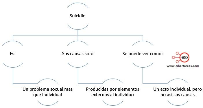 concepto de suicidio mapa conceptual introduccion a las ciencias sociales