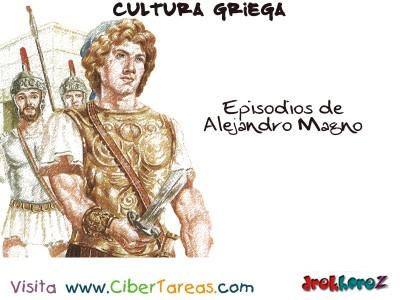 Episodios de Alejandro Magno - Cultura Griega