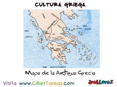 Mapa de la Antigua Grecia - Cultura Griega
