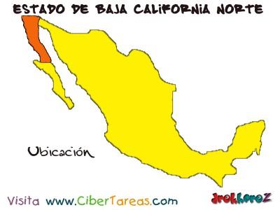 Ubicacion - Estado de Baja California Norte