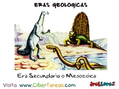 Era Secundaria o Mesozoica - Eras Geologicas