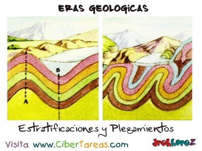 Estratificaciones y Plegamientos - Eras Geologicas