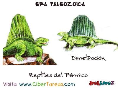 Reptiles del Permico - Era Paleozoica Prehistoria