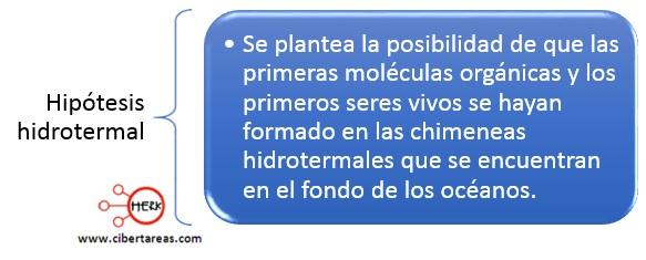 hipotesis hidrotermal