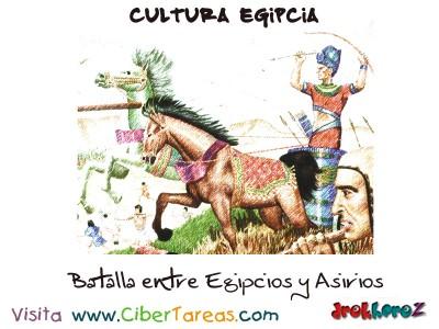 Batalla entre Egipcios y Asirios - Cultura Egipcia