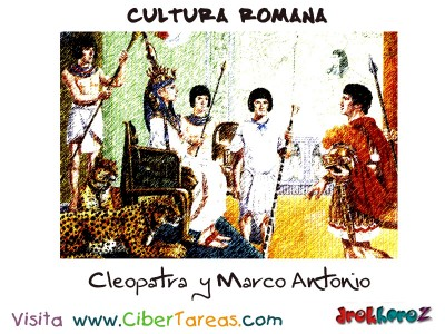 Cleopatra y Marco Antonio - Cultura Romana