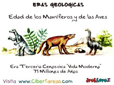 Era Terceria Cenozoica edad de los Mamiferos y las aves - Eras Geologicas