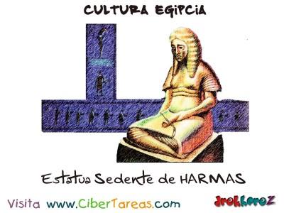 Estatua Sedente de HARMAB - Cultura Egipcia