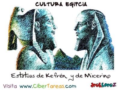 Estatuas de Kefren y de Micerino - Cultura Egipcia