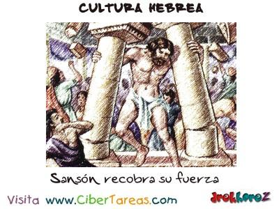 Sanson recobra su fuerza - Cultura Hebrea
