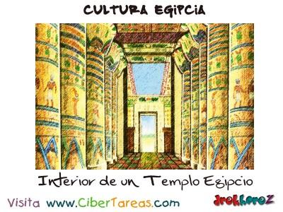 interior de un Templo Egipcio - Cultura Egipcia