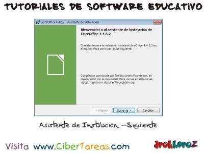 Asistente de Instalacion de LibreOffice - Tutoriales de Software Educativo