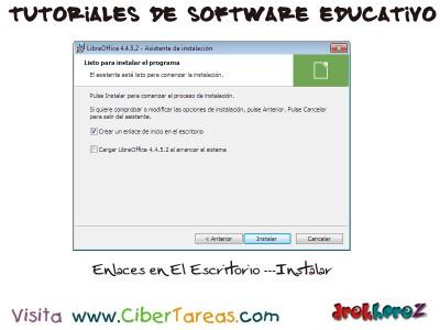 Enlaces en el Escritorio LibreOffice - Tutoriales de Software Educativo