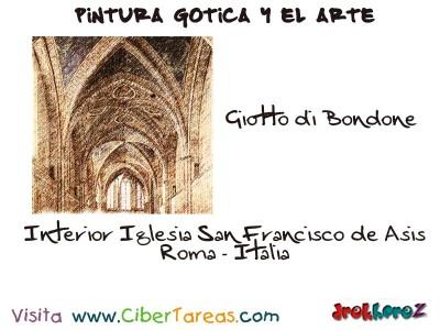 Giotto di Bondone Iglesia San Francisco de Asis - Pintura Gotica y el Arte