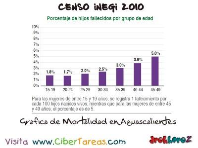 Grafica de Mortalidad en Aguascalientes - Censo INEGI 2010