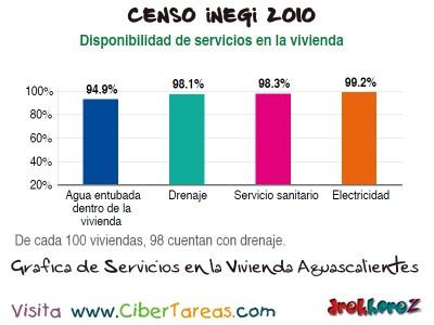Grafica de Servicios de la Vivienda Aguascalientes - Censo INEGI 2010