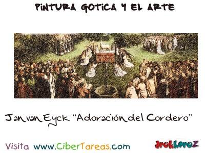 Jan van Eyck Adoracion del Cordero - Pintura Gotica y el Arte