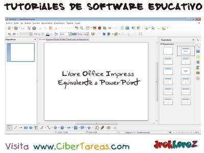 LibreOffice Impress equivalente a Power Point - Tutoriales de Software Educativo