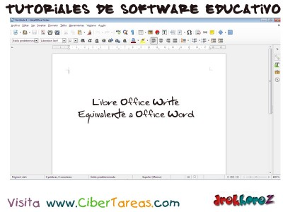 LibreOffice Write equivalente a Office Word - Tutoriales de Software Educativo