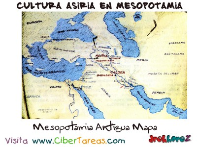 Mesopotamia Antigua Mapa - Cultura Asiria en Mesopotamia