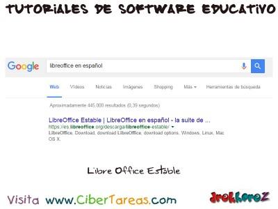 Seleccionar Libre Office Estable - Tutoriales de Software Educativo