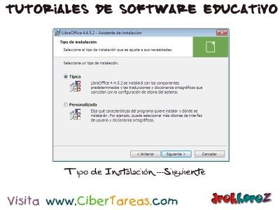 Tipo de Instalacion de LibreOffice - Tutoriales de Software Educativo