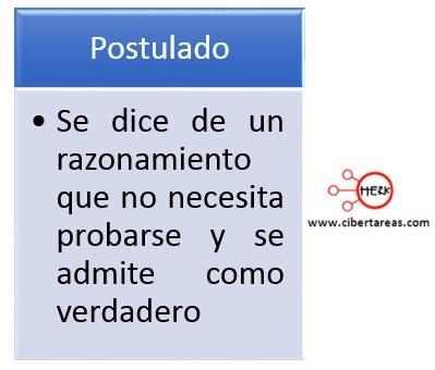 concepto definicion de postulado contabilidad