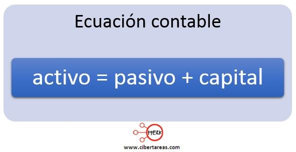 ecuacion contable de la partida doble contabilidad