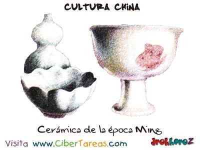 Ceramica de la Epoca Ming - Cultura China