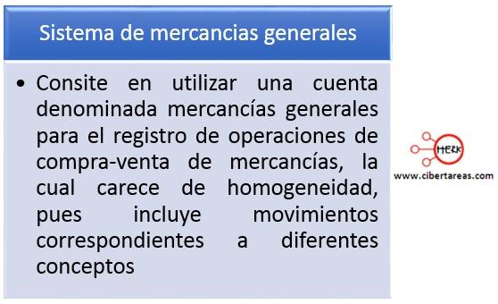 sistema de mercancias generales contabilidad 1
