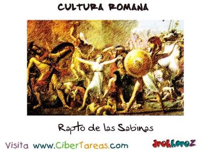 Rapto de las Sabinas - Cultura Romana