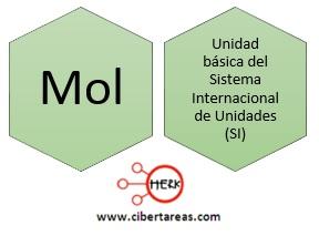 concepto definicion de mol quimica