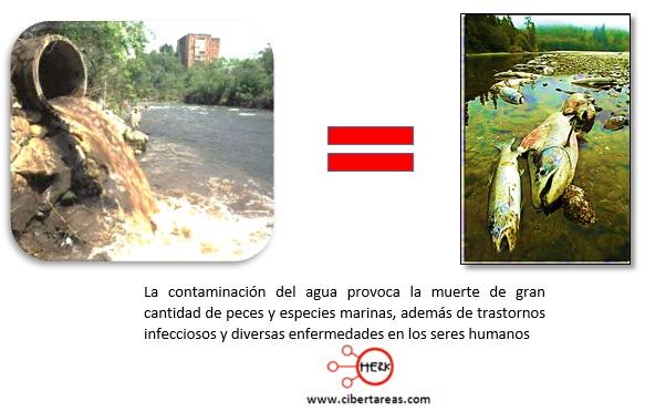 contaminacion del agua rios mares lagos
