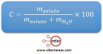 ejemplo calculo concentracion porcentual quimica 2 a