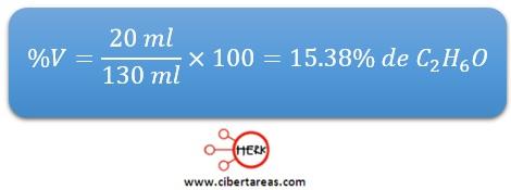 ejemplo calculo concentracion porcentual quimica 2 b