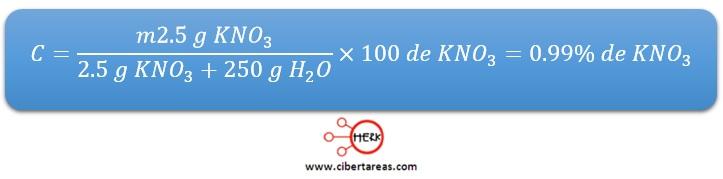 ejemplo calculo concentracion porcentual quimica 2