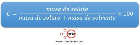 ejemplo calculo concentracion porcentual quimica