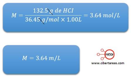 ejemplo formula calcular molaridad quimica 2 ejemplo