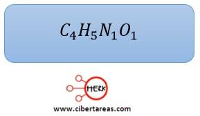 ejemplo formula molecular quimca 2