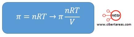 ejemplo para calcular la presion osmotica