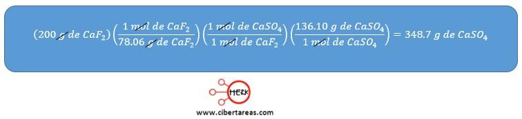 ejemplo para determinar el porcentaje de rendimiento quimca 2