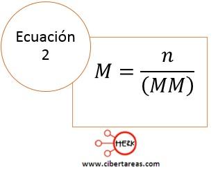 formula calcular molaridad quimica 2 a