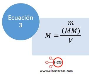 formula calcular molaridad quimica 2 b
