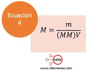 formula calcular molaridad quimica 2 c