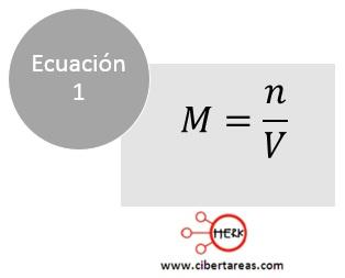 formula calcular molaridad quimica 2
