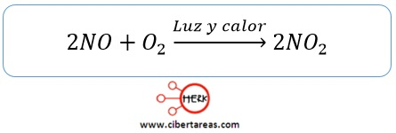 oxido de nitrigeno dioxido de nitrogeno formula